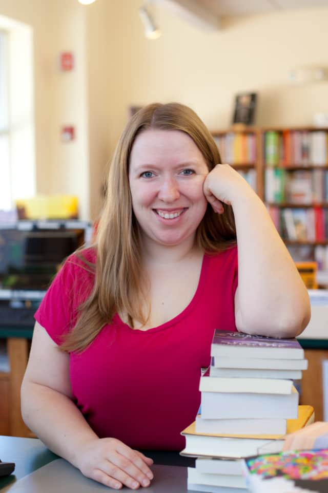 Suzanna Hermans, co-owner of Oblong Books in Rhinebeck.