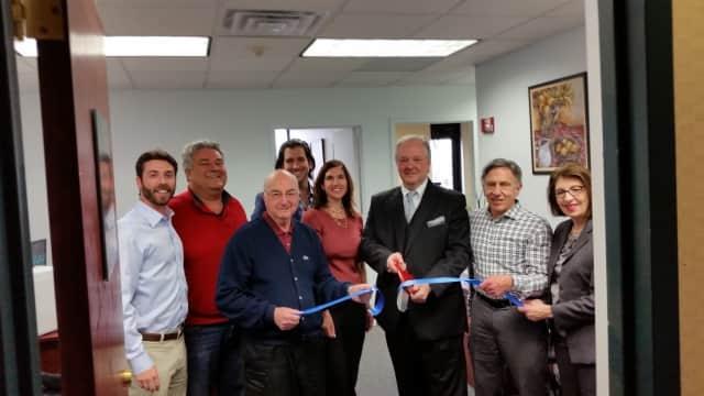 From left: Ted Silverman, Councilman Joseph Cervieri Jr., Councilman Harvey Sohmer, Joshua Baris, Jennifer Blume, Boris Kaganov, Douglas Feltman, Hope Rothenberg.
