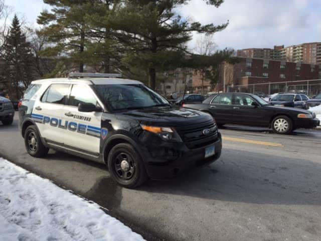 Stamford police arrested a man Friday after he brandished a BB gun at another driver in a road rage incident.