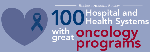"""The Valley Hospital has been named one of the """"100 Hospitals and Health Systems with Great Oncology Programs"""" by Becker's Hospital Review."""