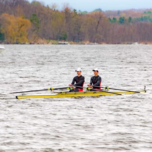 Darien High School sophomores Alexander Williams, left, and Andrew Orner captured the silver medal at the 2016 Saratoga Invitational.