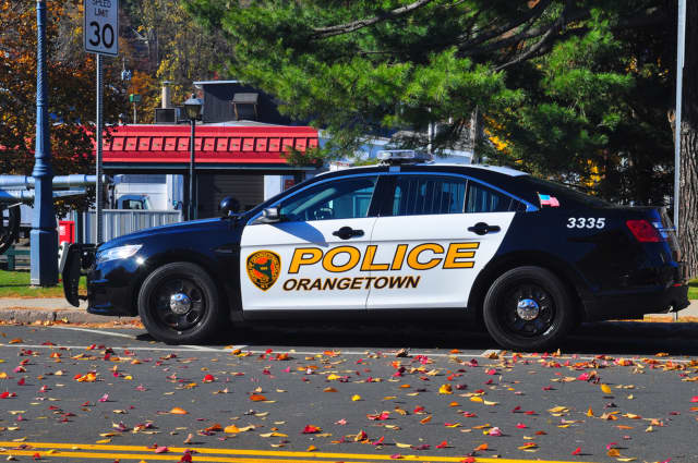 Orangetown police arrested a Nyack man on a DWI charge following a hit-and-run accident.