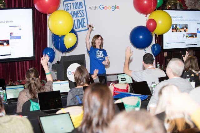 Google hosted a workshop for small businesses Tuesday