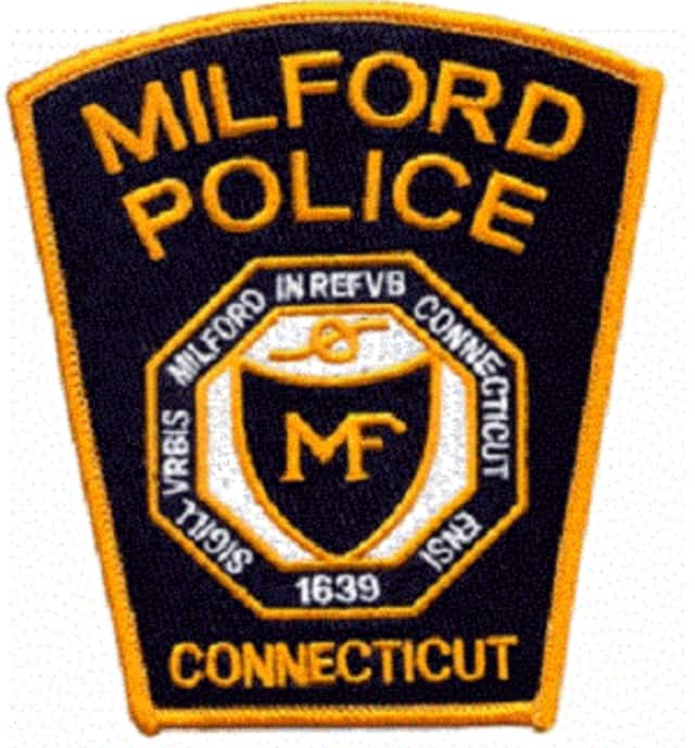 A Milford Police officer saved a man who had hanged himself.