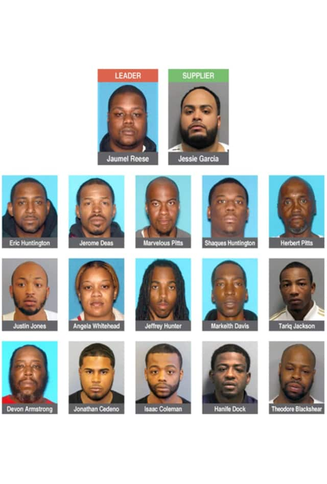 The 63-count indictment names 17 alleged ring members, along with 16 accused buyers.