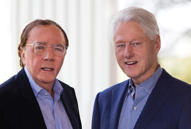 James Patterson and Bill Clinton. Photograph by David Burnett.