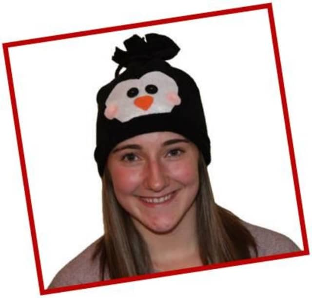 Teens and tweens can make a penguin hat at Greenburgh Public Library.