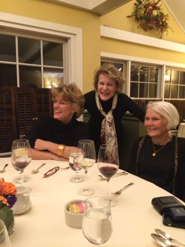 Peter's wife, Rica, with his sister and mother on Thanksgiving.