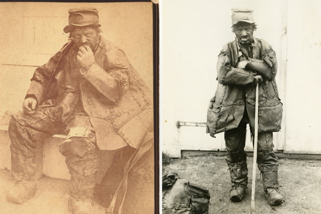 The Old Leatherman. Photographs courtesy Westchester County Historical Society.