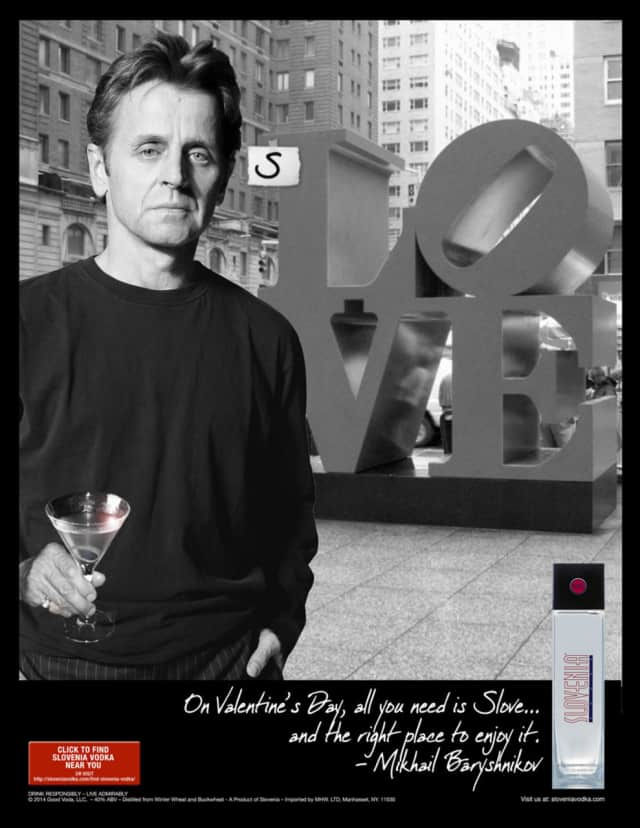 Mikhail Baryshnikov is an Ambassador of Authenticity for Slovenia Vodka.