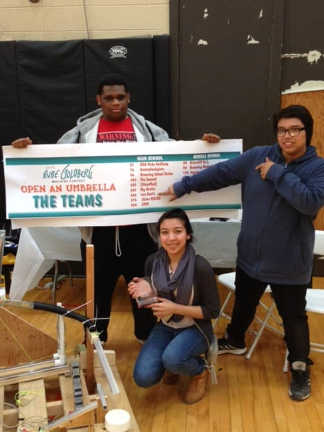 Members of the Peekskill Iron Devils Robotics Team