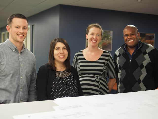 Pictured, from left, are Robert P. Gruffi, Camille Bowman, Kerry Gorczynski and Brian Tyler.