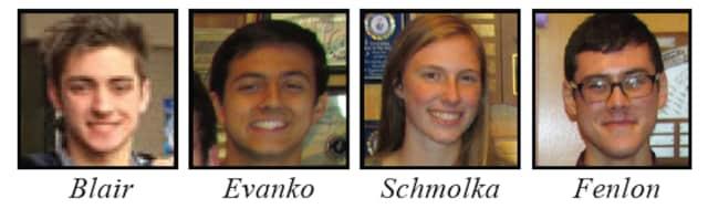 Chappaqua students, Graham Blair, Chris Evanko and Jordan Schmolka are National Merit Scholarship winners ($2,500), while Liam Fenlon is the recipient of the corporate-sponsored PWC Charitable Foundation Scholarship.