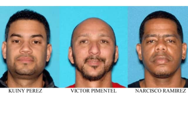 Accused drug ring members Perez, Piementel and Ramirez.