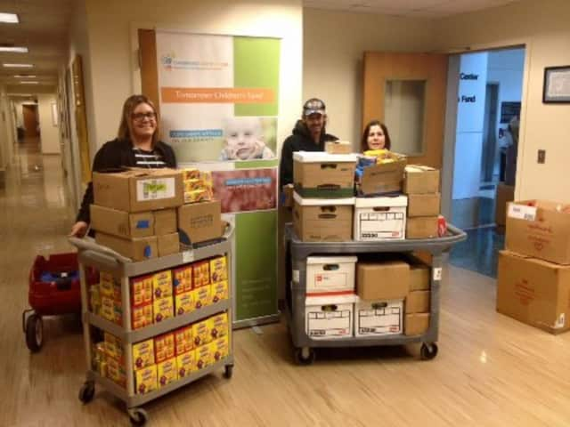 NJ Food & Clothing Rescue delivers Play-Doh to Tomorrow's Children Cancer Center in Hackensack.
