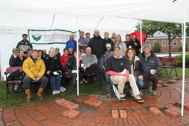 The Pleasantville Public School District installed a record 25 bricks in Pleasantville High's Alumni Plaza.