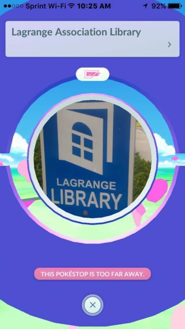 LaGrange Association Library offers Poké Stops in Poughkeepsie.