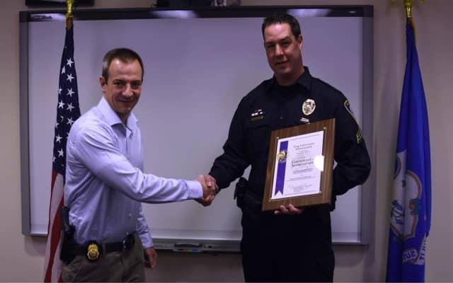 GS Brian Malagrida, DEA and Det. Sgt. Jeremiah P. Marron, Darien Police Dept.