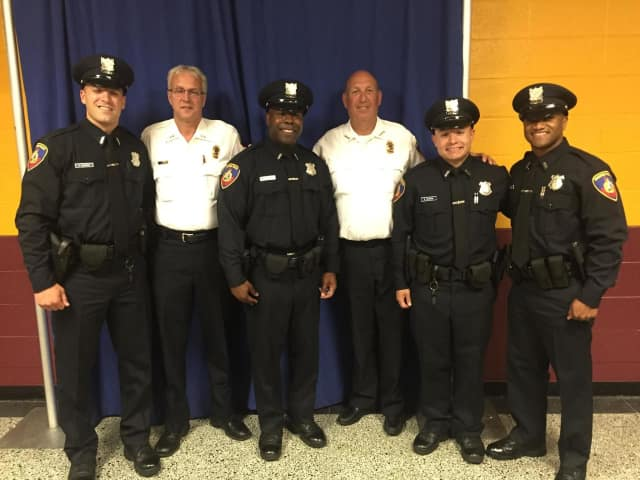These four new police officers have joined the patrol division of the Stamford Police Department.