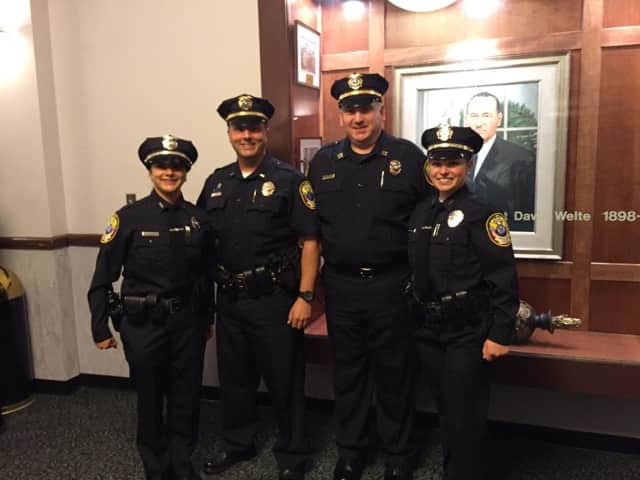 Bethel Police welcomes new officers Jessenia Beamonte and Amelia Fekeita to the department.