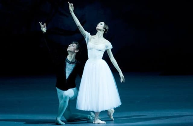 "Sergei Polunin and Svetlana Zakharova in the Bolshoi Ballet's ""Giselle."""
