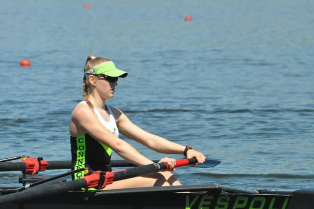 Four Fox Lane High School students won medals in the annual Mercer Lake Sculling Championships.