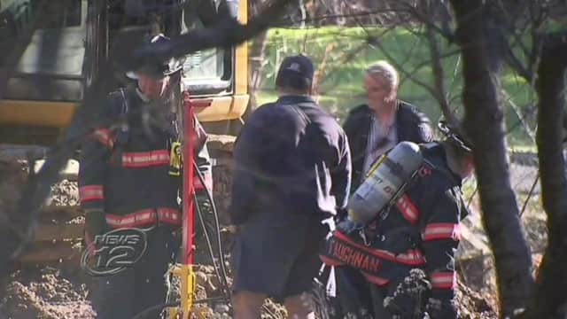 HAZMAT contained a propane tank leak by burning off the leaking fuel.