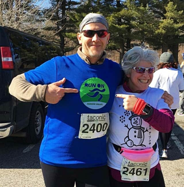 Runners proudly note the Run On Hudson Valley logo.