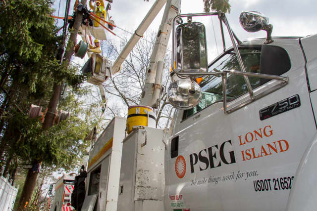 PSEG Long Island utility crews are working to restore power to hundreds.