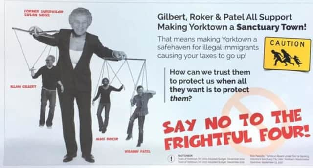 Yorktown Democrats are accusing a mailing of being anti-Semitic.