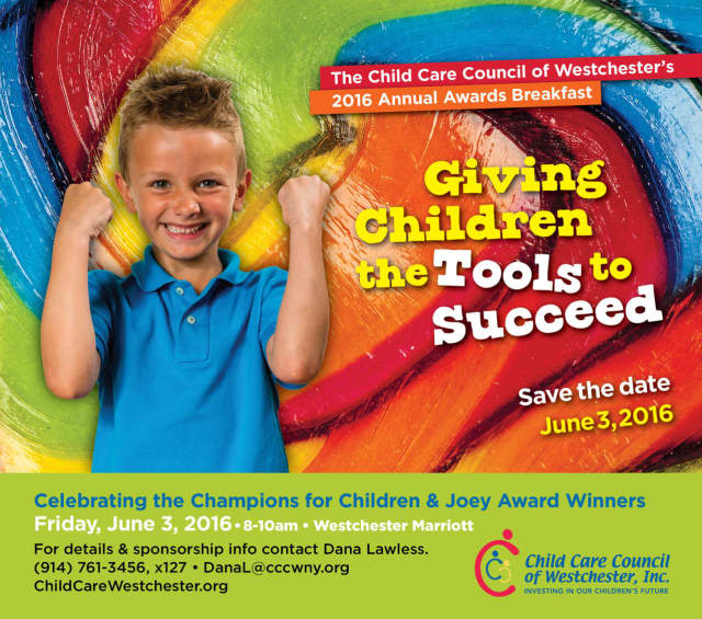 The Child Care Council of Westchester is holding a benefit raffle. Winners will be announced at the 2016 annual Awards Breakfast on June 3.