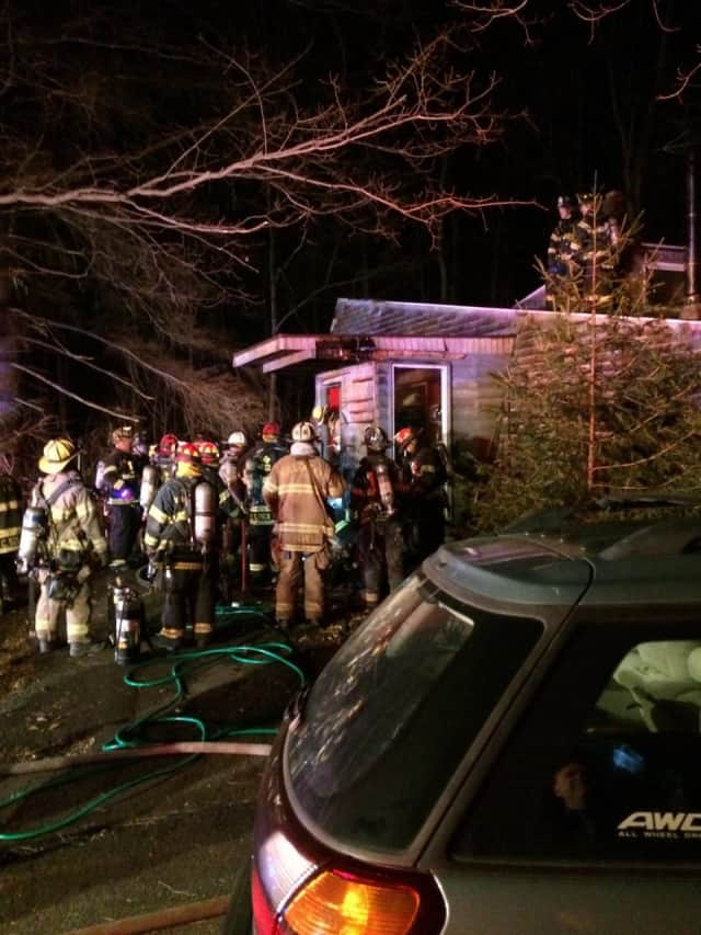 Firefighters respond to a house fire early Wednesday in Ramapo.