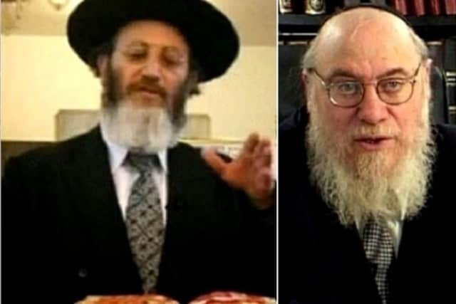 Rabbi Martin Wolmark, left, of Monsey, was sentenced to three years for his role in an extortion scheme. Rabbi Mendel Epstein, 70, of Lakewood, N.J., gets sentenced next week.