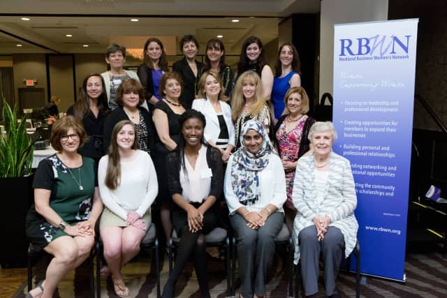 The board of the Rockland Business Women's Network with the honorees at the breakfast.