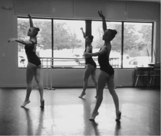 From left to right: Kayla Pinzur, Jenna Pinzur and Amanda Ostuni in rehearse for the annual Nutcracker presented by the Seven Star School of Performing Arts at Brewster High School Performing Arts Center.