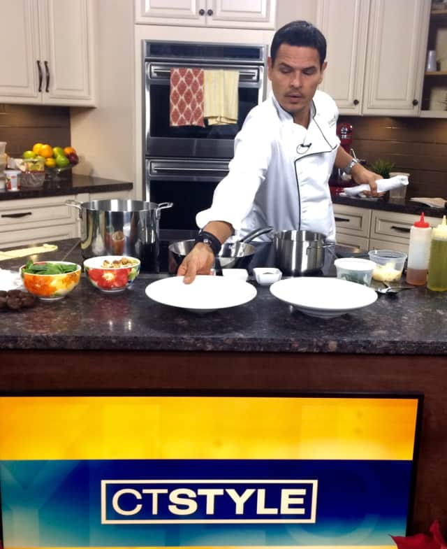 Chef Renato Donzelli, owner of Basso Cafe, on a recent CT Style segment.