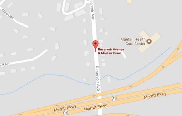 A water main broke on Reservoir Avenue near Maefair Court in Trumbull