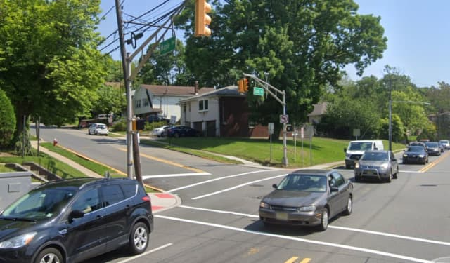 Grand and Maple avenues, just below Route 46 in Ridgefield.