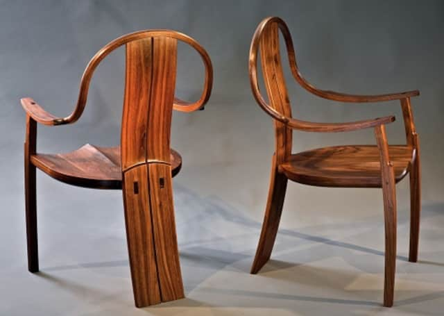 Handcarved chairs by Geoffrey Warner will be available at the upcoming Rhinebeck Arts Festival.