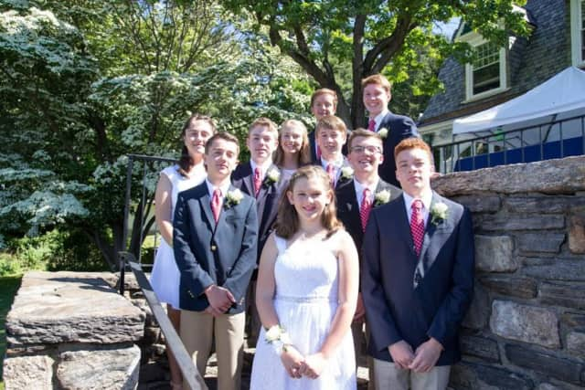 10 Ridgefield students recently graduated from Ridgefield Academy. See story for photo IDs.