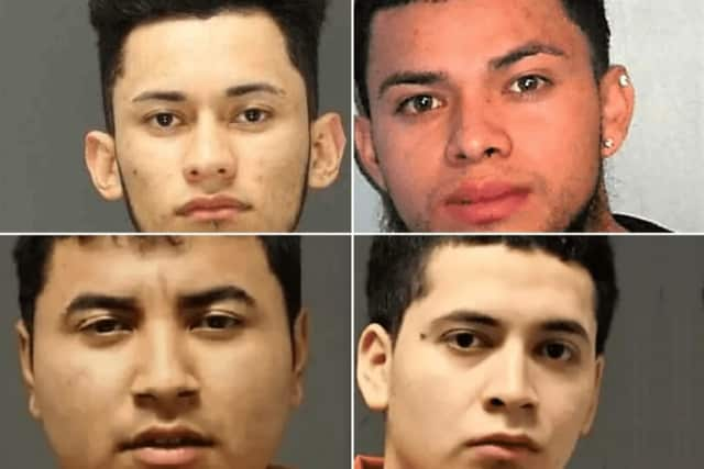 Four of Cruz's co-defendants (clockwise from top left): Guillermo Carrillo-Iraheta, Oscar Avalos-Cortez, Wilbur Barahona, Jostin Reyes