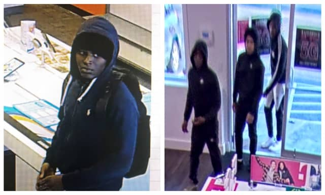 Know them? Police are attempting to identify three teens wanted in connection with a smash and grab robbery.