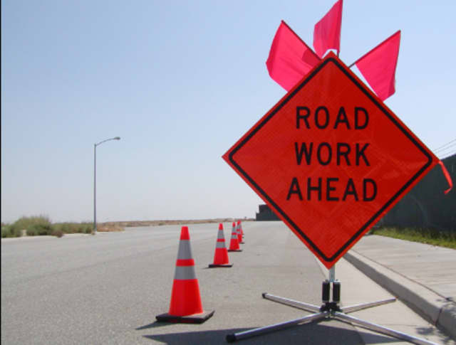 Milling and paving work will be completed this week on Belden Hill Road in Wilton.