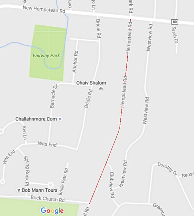 A portion of Hempstead Road will be closed during the day for approximately two weeks.