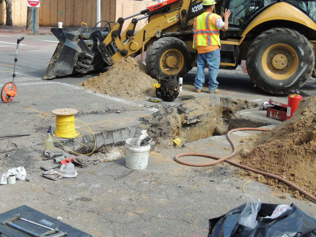 Springfield Avenue in Hasbrouck Heights was closed Monday for United Water repairs between the Boulevard and Summit Avenue.