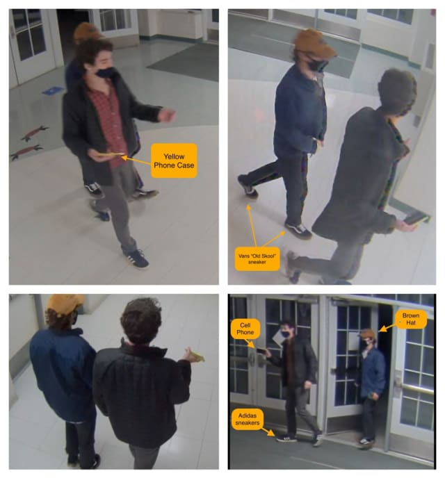 Know them? The Darien Police are asking the public for help identifying two teens who vandalized an area school.