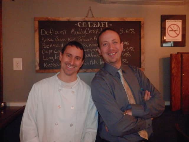 Chef Craig Levy, left, and Robert Beckert, right, of Craft House in Suffern.