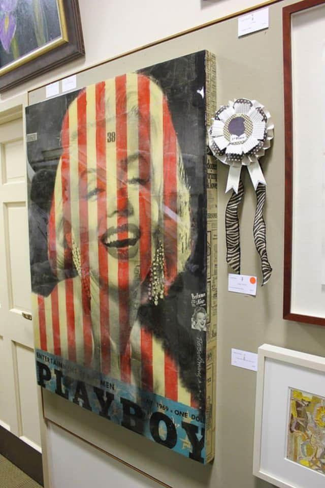 """""""Danger Marilyn"""" by Robert Mars, was last years's first-place winner of the Mark Twain Library's Annual Art Show fundraiser."""