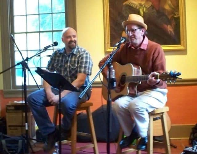 Roger and Lenny will lead the sing-alongs during a holiday event at the Red Hook Library.