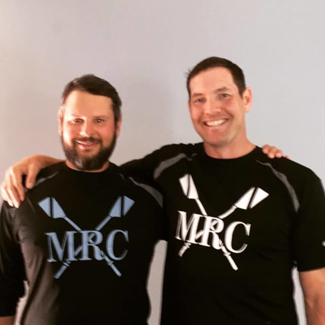Dan Walsh, right, will join his longtime friend, Roman Vengerovskiy, at Maritime Rowing Club in Norwalk. Walsh won a bronze medal in the Summer Olympics in 2008.